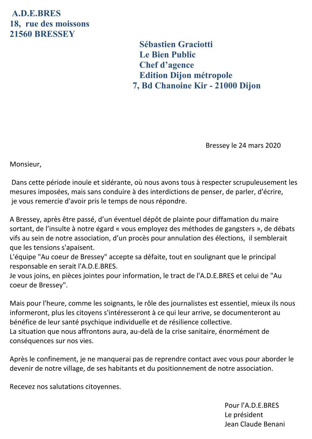 Mail du 25 mars réponse au LBP
